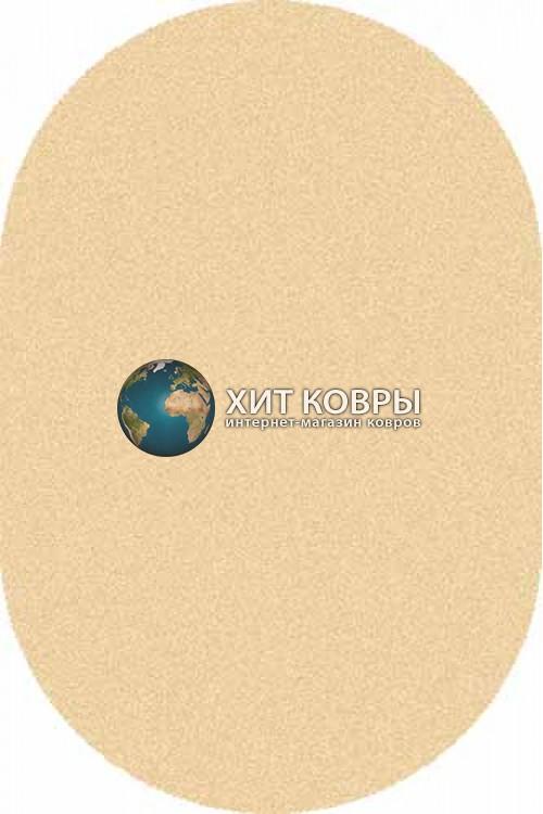 Российский ковер  овальный Comfort шегги s600 кремовый d