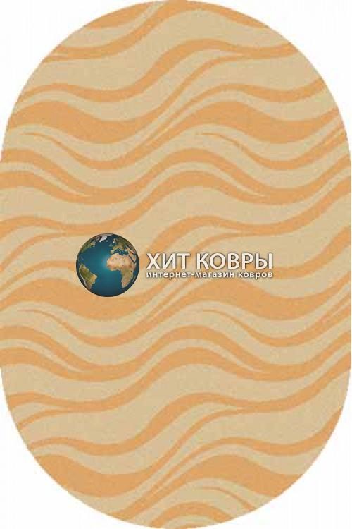 Российский ковер  овальный Comfort шегги s609 бежевый d