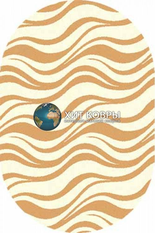 Российский ковер  овальный Comfort шегги s609 кремовый d