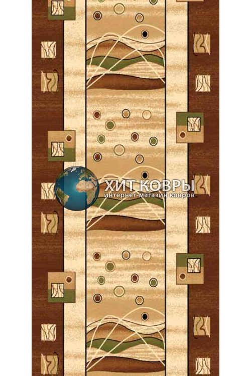 ковер в комнату Runner Da Vinci 5409 коричневый
