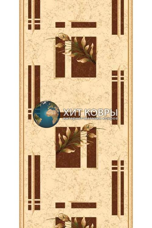 ковер в комнату Runner Da Vinci 5442 бежевый коричневый