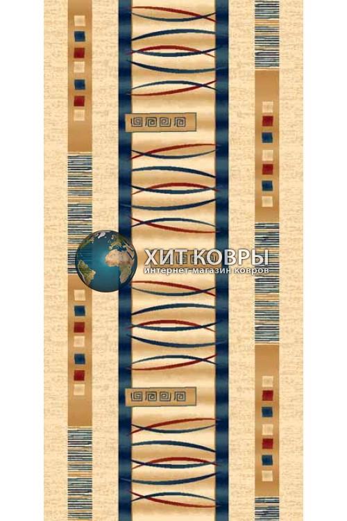 ковер в комнату Runner Da Vinci d025 кремовый бирюзовый