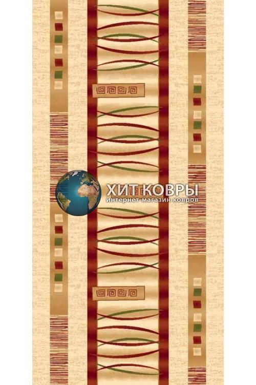 ковер в комнату Runner Da Vinci d025 кремовый красный