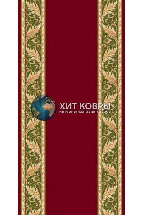 ковер в комнату Runner Da Vinci d040 красный зеленый