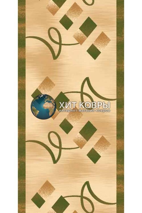 ковер в комнату Runner Da Vinci d054 бежевый зеленый