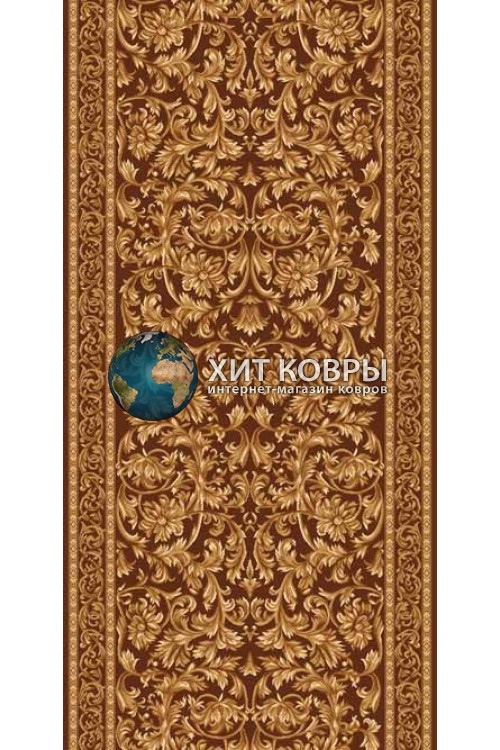 ковер в комнату Runner Da Vinci d126 коричневый