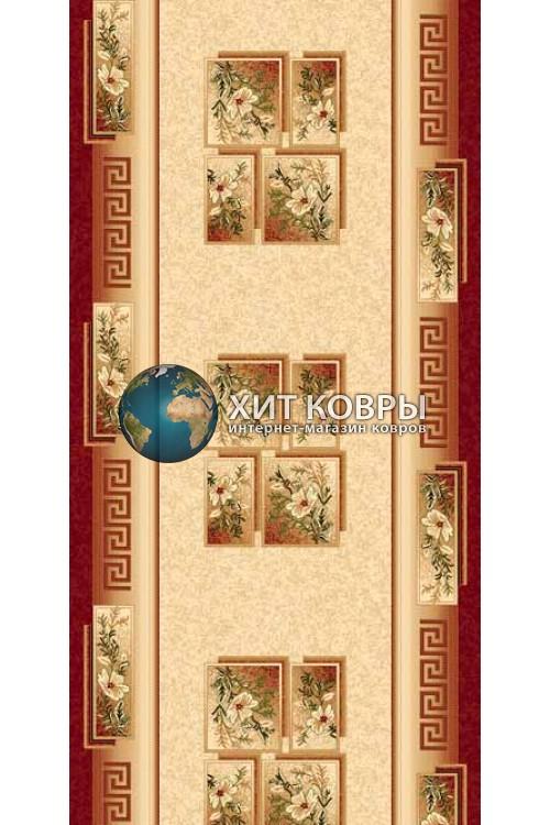 ковер в комнату Runner Da Vinci w010 красный