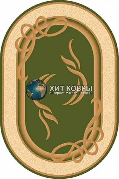 Российский ковер  овальный Olympos a704 зеленый