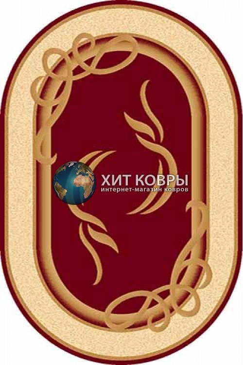 Российский ковер  овальный Olympos a704 красный