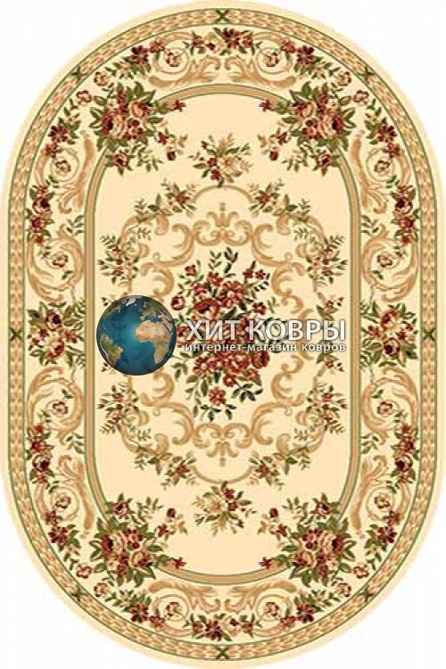 Российский ковер  овальный Olympos d057 кремовый
