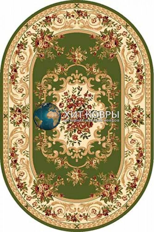 Российский ковер  овальный Olympos d057 зеленый