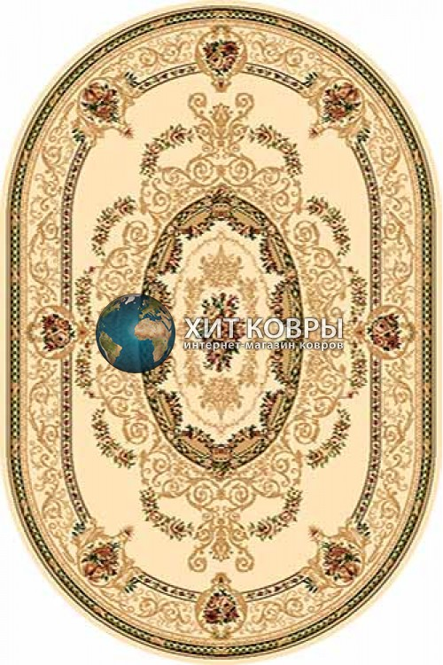 Российский ковер  овальный Olympos d058 кремовый
