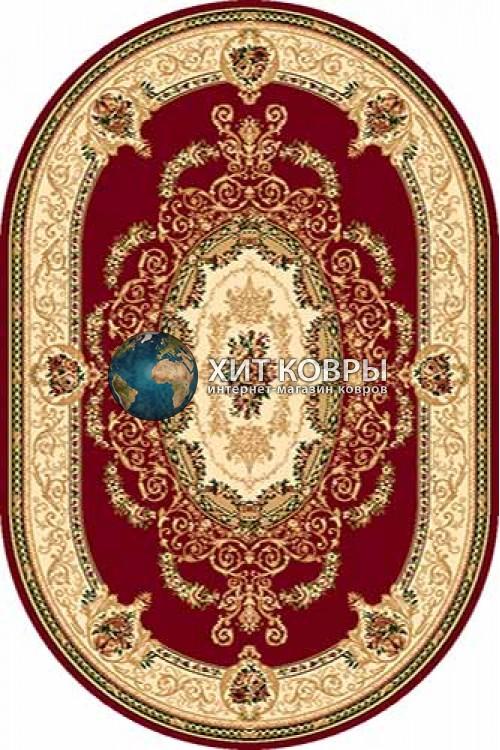 Российский ковер  овальный Olympos d058 красный