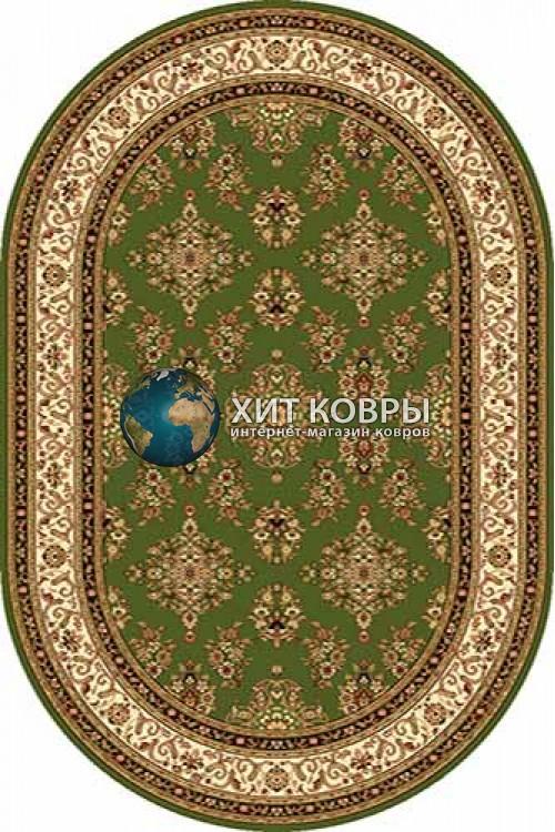 Российский ковер  овальный Olympos d064 зеленый