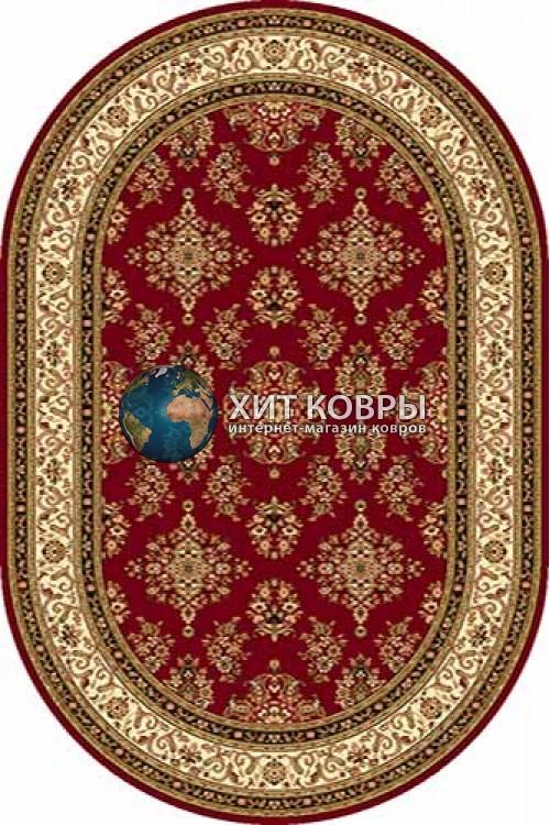 Российский ковер  овальный Olympos d064 красный