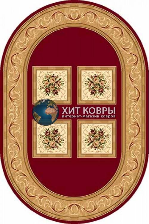 Российский ковер  овальный Olympos d065 красный