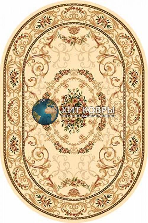 Российский ковер  овальный Olympos d066 кремовый