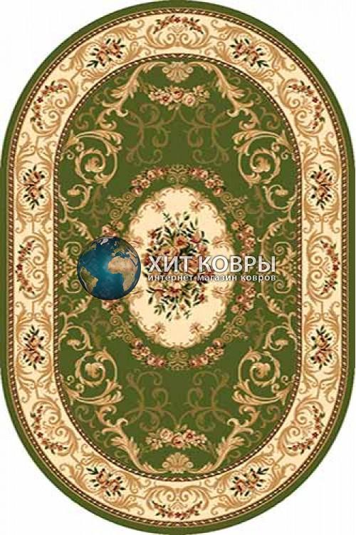 Российский ковер  овальный Olympos d066 зеленый