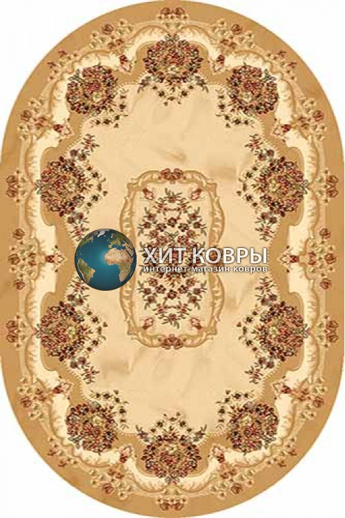 Российский ковер  овальный Olympos d067 бежевый