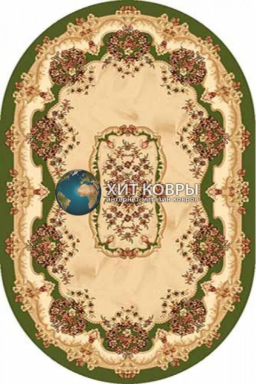 Российский ковер  овальный Olympos d067 зеленый