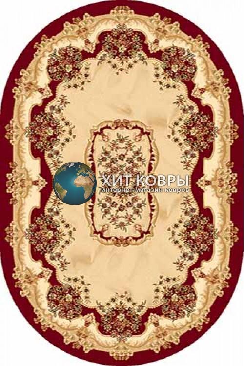 Российский ковер  овальный Olympos d067 красный