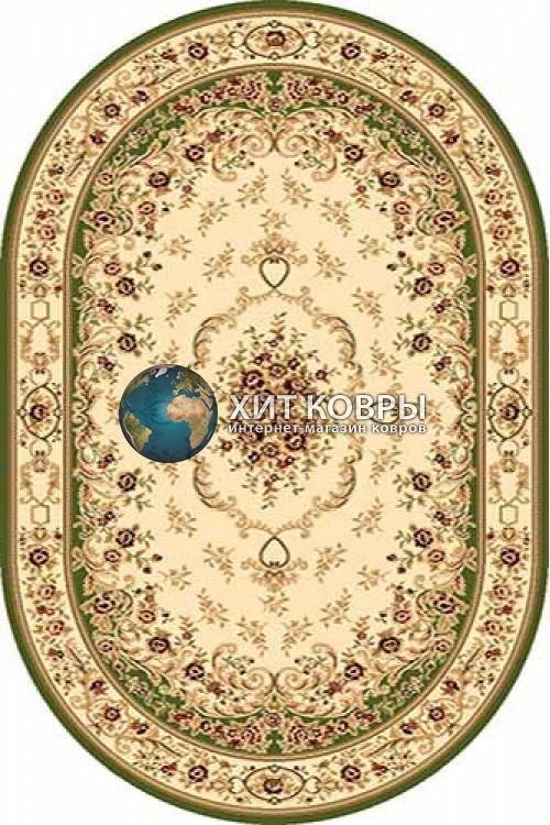 Российский ковер  овальный Olympos d071 зеленый