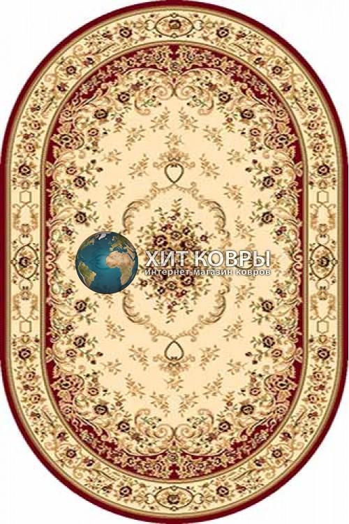 Российский ковер  овальный Olympos d071 красный