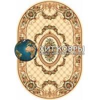 Российский ковер oval-olympos-d075_cream