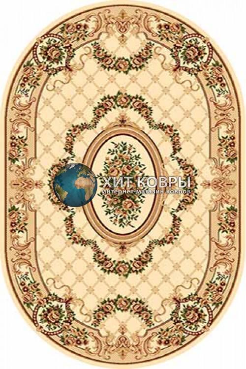 Российский ковер  овальный Olympos d075 кремовый