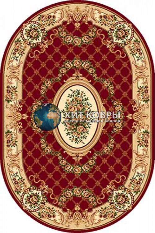 Российский ковер  овальный Olympos d075 красный
