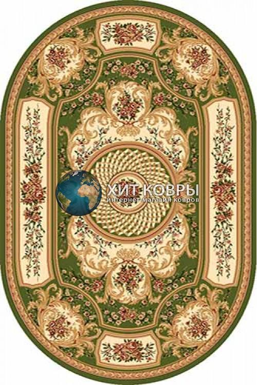 Российский ковер  овальный Olympos d170 зеленый