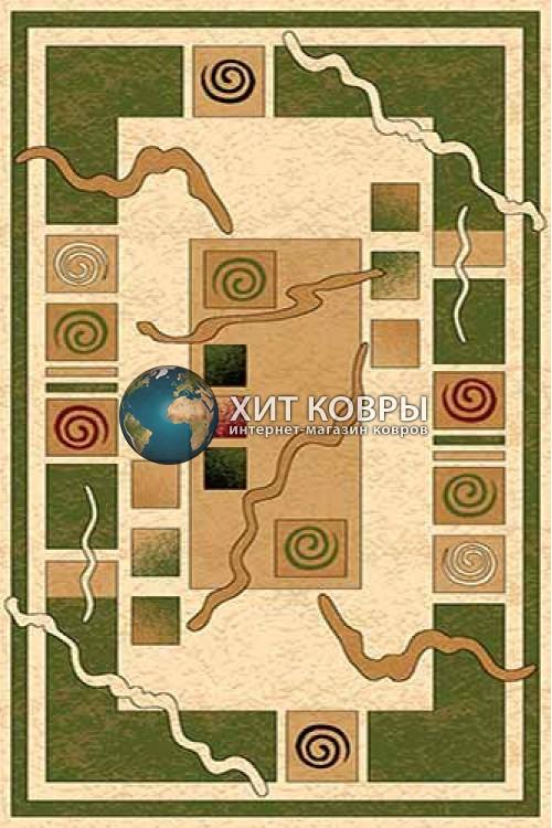 Российский ковер прямоугольный Olympos d077 кремовый зеленый