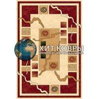 Российский ковер prymougolnik-olympos-d077_cream-red