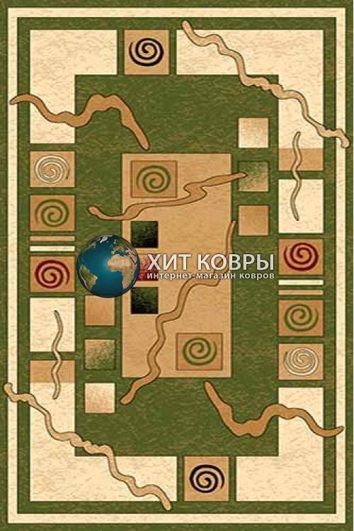 Российский ковер прямоугольный Olympos d077 зеленый