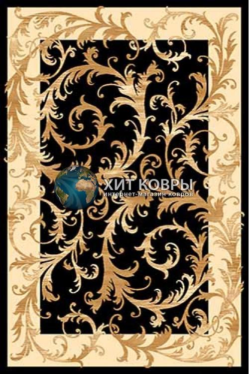 Российский ковер прямоугольный Olympos d156 черный кремовый