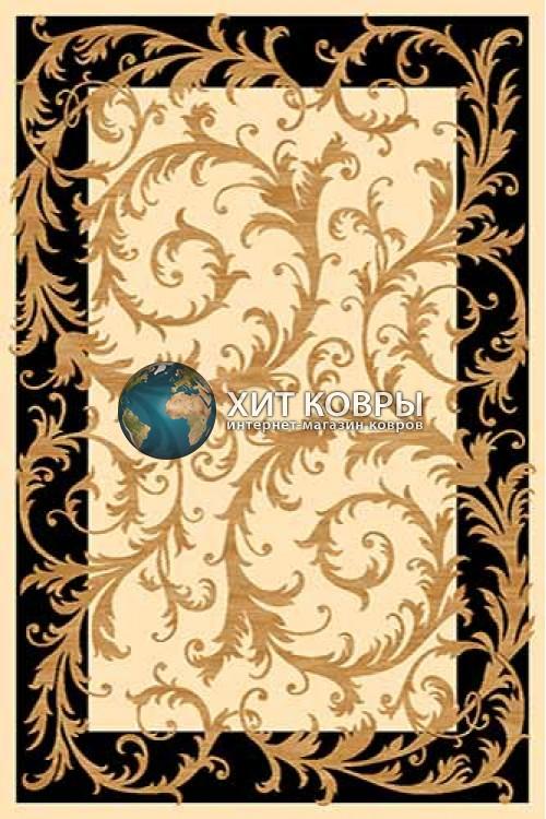 Российский ковер прямоугольный Olympos d156 кремовый черный