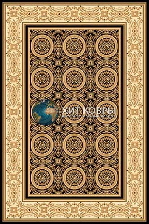 Российский ковер прямоугольный Olympos d157 черный кремовый