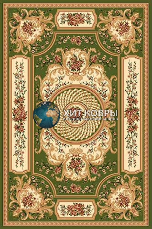 Российский ковер прямоугольный Olympos d170 зеленый