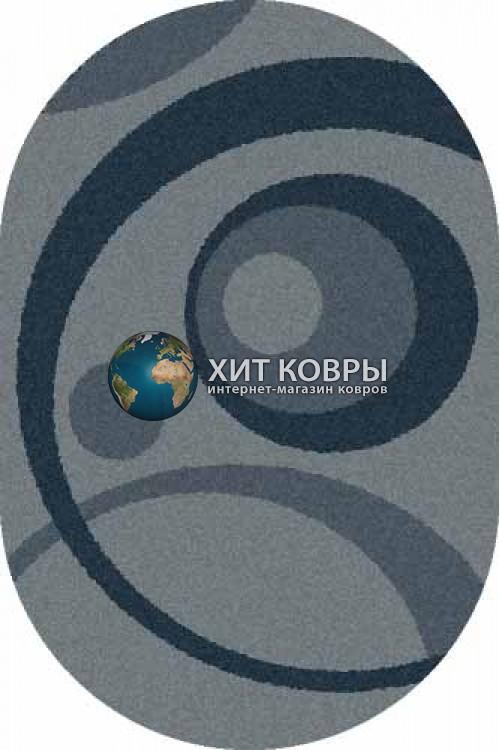 Российский ковер  овальный Platinum t151 голубой