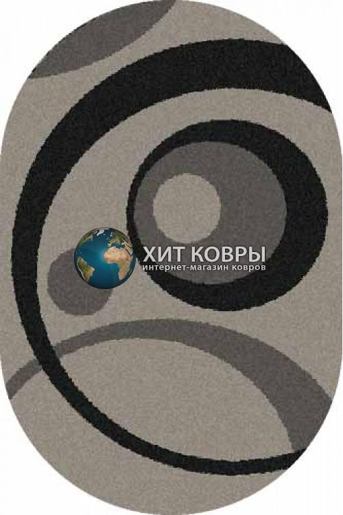 Российский ковер  овальный Platinum t151 серый