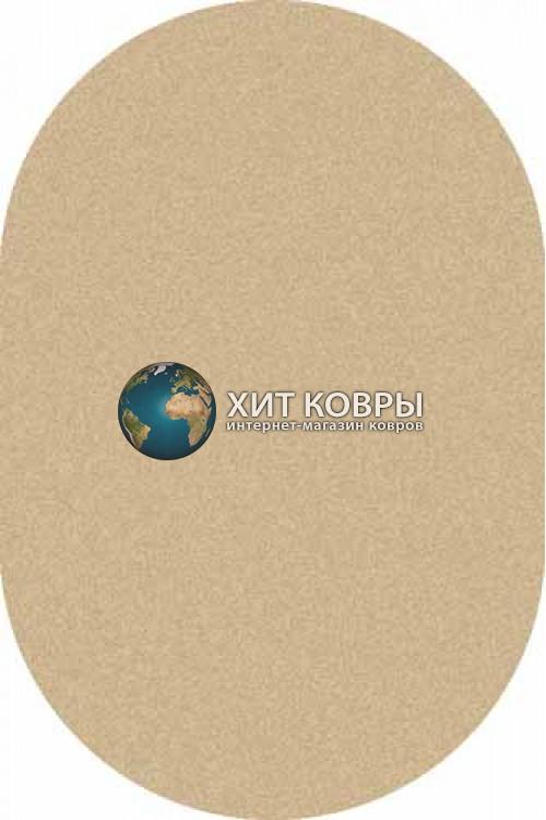 Российский ковер  овальный Platinum t600 бежевый