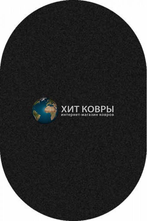 Российский ковер  овальный Platinum t600 черный