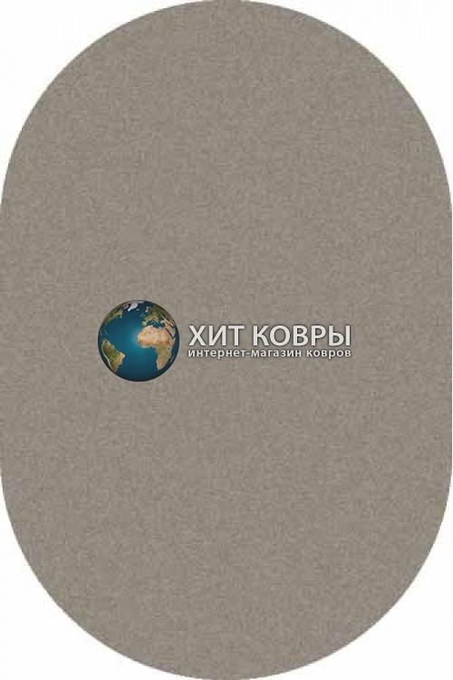 Российский ковер  овальный Platinum t600 серый