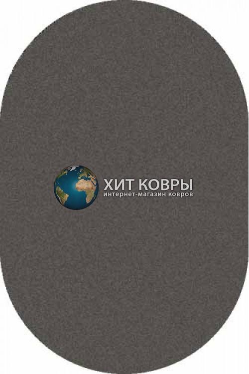 Российский ковер  овальный Platinum t600 серый черный