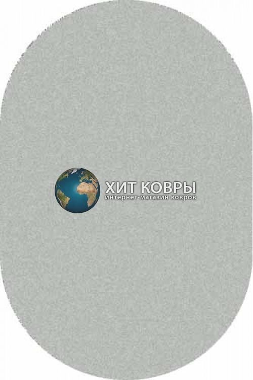 Российский ковер  овальный Platinum t600 natural голубой