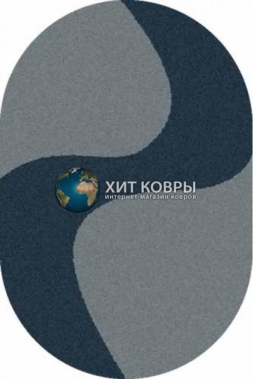 Российский ковер  овальный Platinum t616 голубой