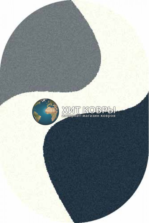 Российский ковер  овальный Platinum t616 голубой бирюзовый