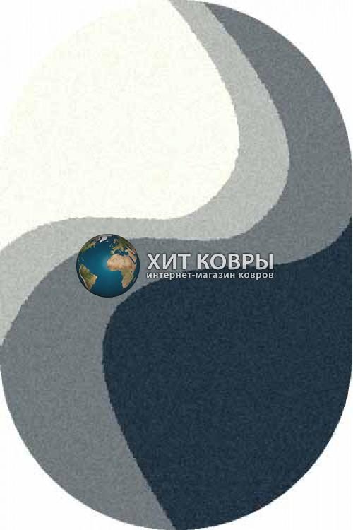 Российский ковер  овальный Platinum t616 natural бирюзовый