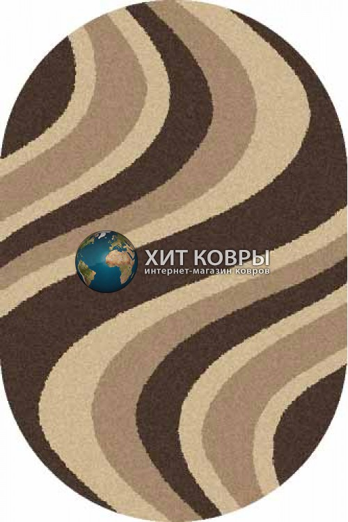 Российский ковер  овальный Platinum t617 коричневый