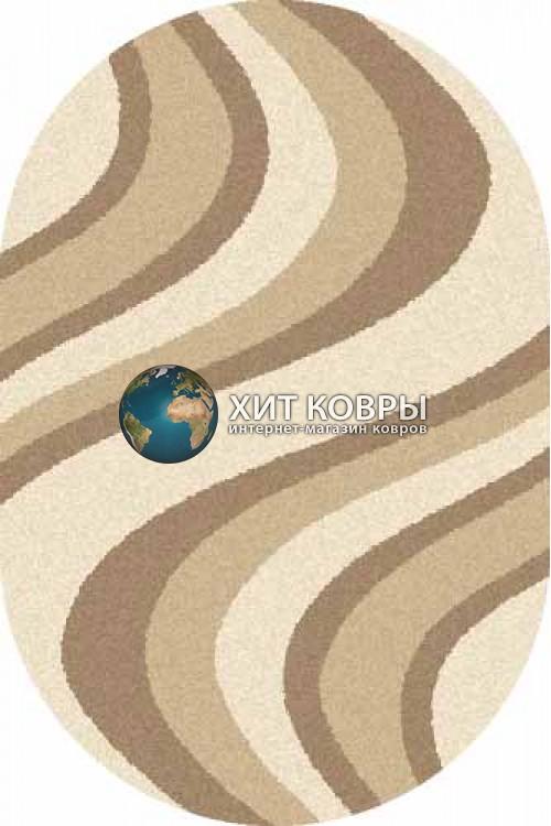 Российский ковер  овальный Platinum t617 кремовый